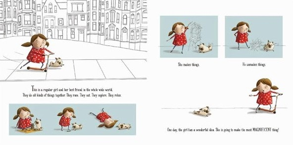 celebrate-picture-books-picture-book-review-the-most-magnificent-thing-the-girl-and-her-dog