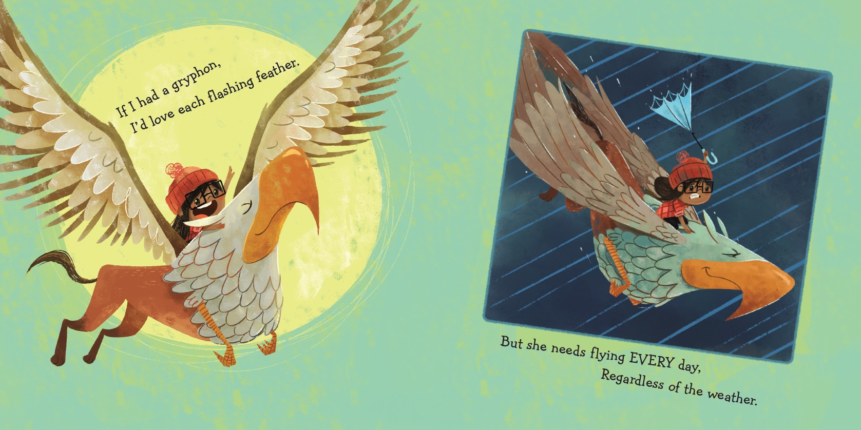 celebrate-picture-books-picture-book-review-if-I-had-a-gryphon-gryphon