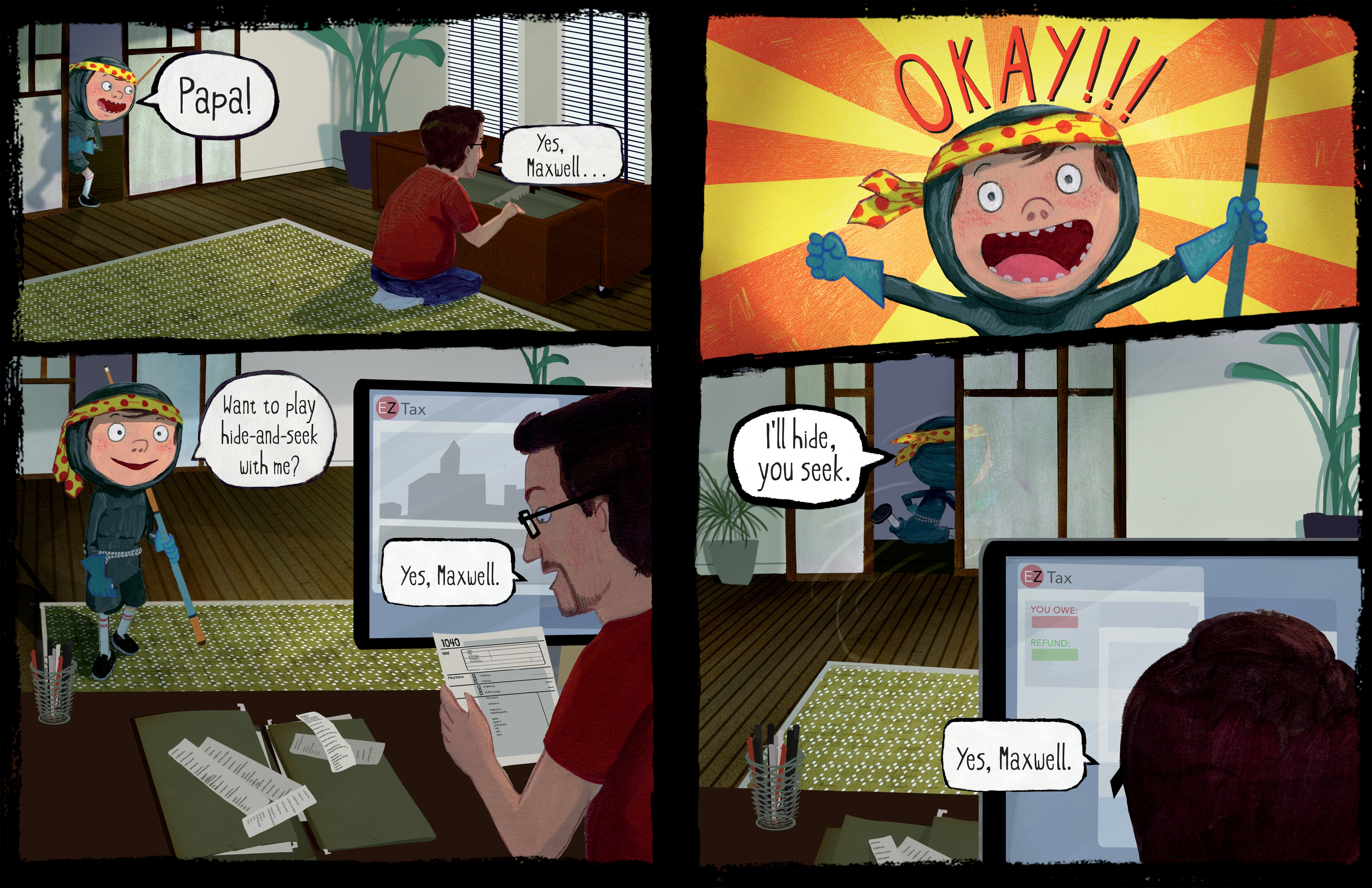 celebrate-picture-books-picture-book-review-ninja-attack-of-the-clan-cassy-asks-dad-to-play