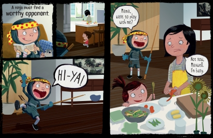 celebrate-picture-books-picture-book-review-ninja-attack-of-the-clan-cassy-asks-mom-to-play