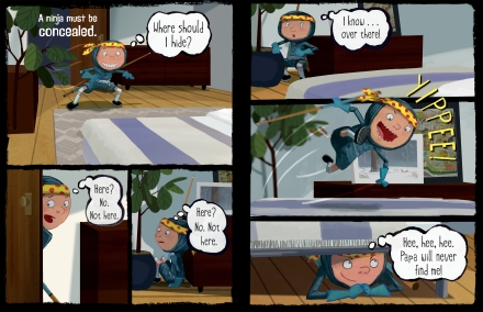 celebrate-picture-books-picture-book-review-ninja-attack-of-the-clan-maxwell-hides