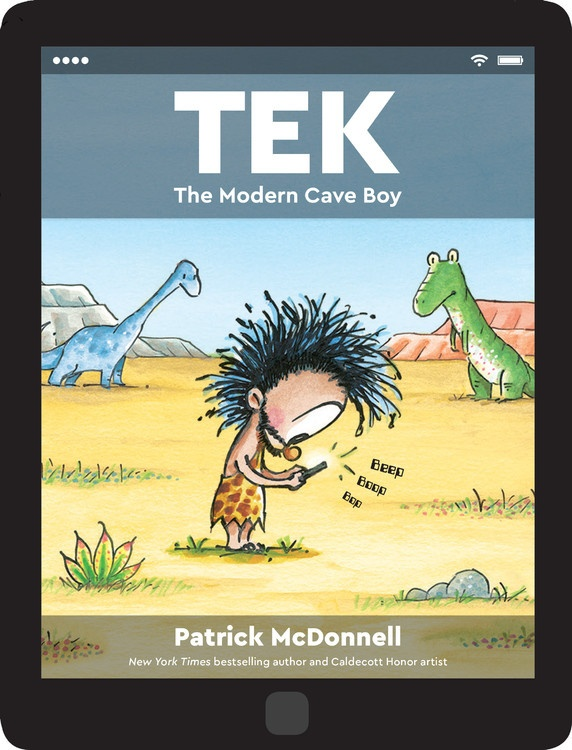 celebrate-picture-books-picture-book-review-tek-the-modern-cave-boy-cover