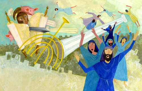 celebrate-picture-books-picture-book-review-the-story-of-hanukkah-battle