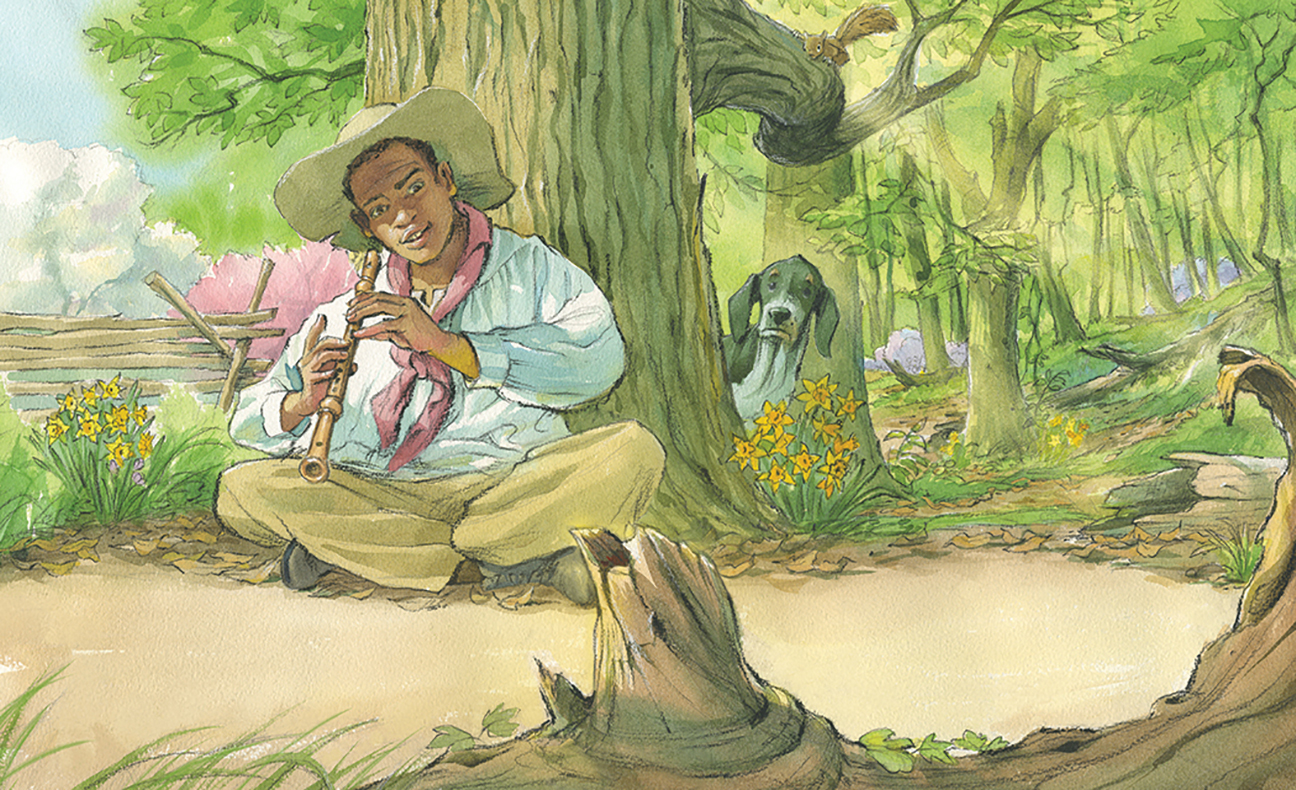 celebrate-picture-books-picture-book-review-ticktock-banneker's-clock-flute
