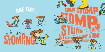 celebrate-picture-books-picture-book-review-one-day-the-end-stomping