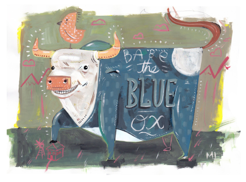 celebrate-picture-book-picture-book-review-paul-bunyan-and-babe-the-blue-ox-and-the-great-pancake-adventure-babe-smiling