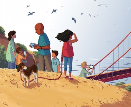celebrate-picture-books-picture-book-review-here-to-there-and-me-to-you-edge-of-golden-gate-bridge