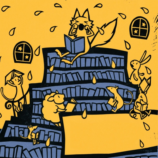 celebrate-picture-books-picture-book-review-the-midnight-library-wolf-cries