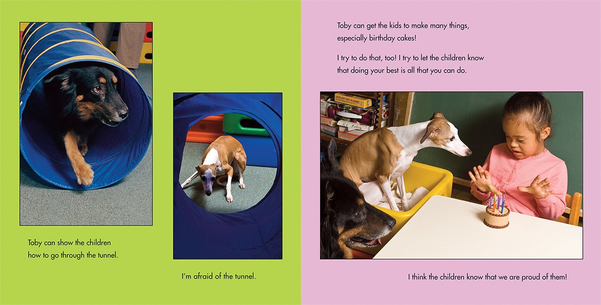 celebrate-picture-books-picture-book-review-toby-and-Tutter-therapy-dogs-playing