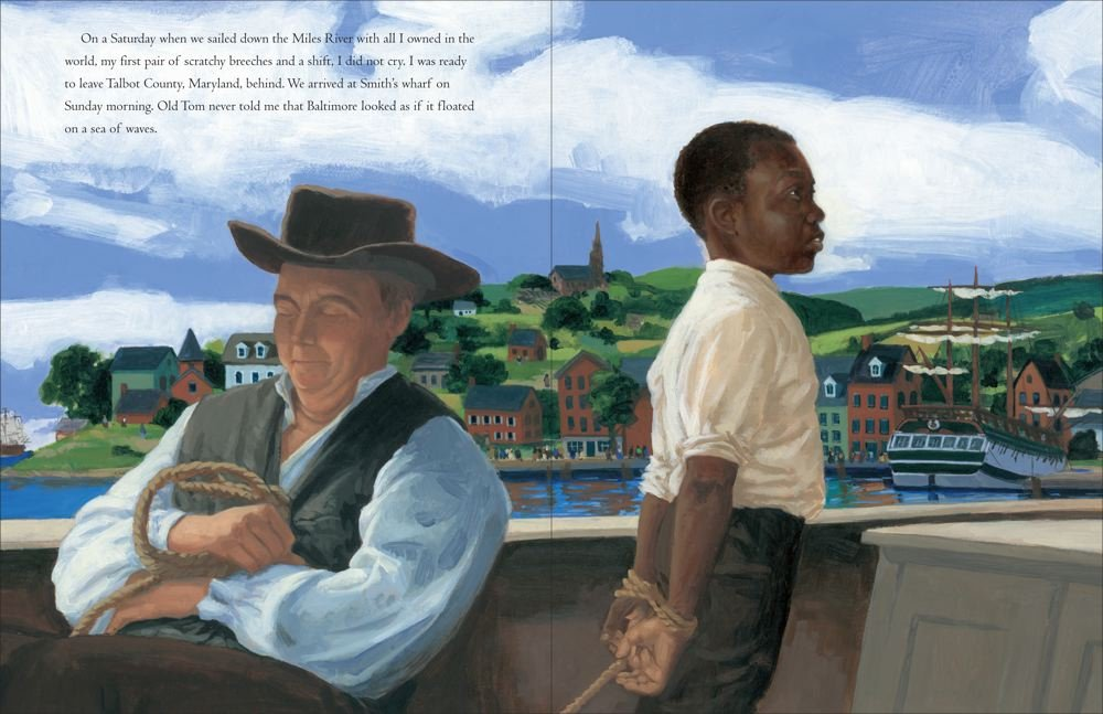 celebrate-picture-books-picture-book-review-words-set-me-free-the-story-of-young-frederick-douglas-smith's-wharf