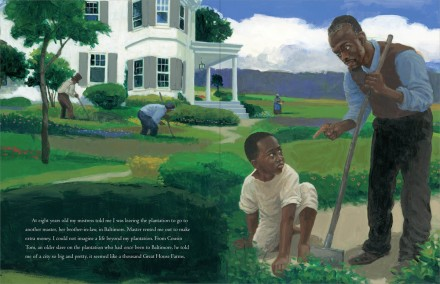 celebrate-picture-books-picture-book-review-words-set-me-free-the-story-of-young-frederick-douglas-plantation