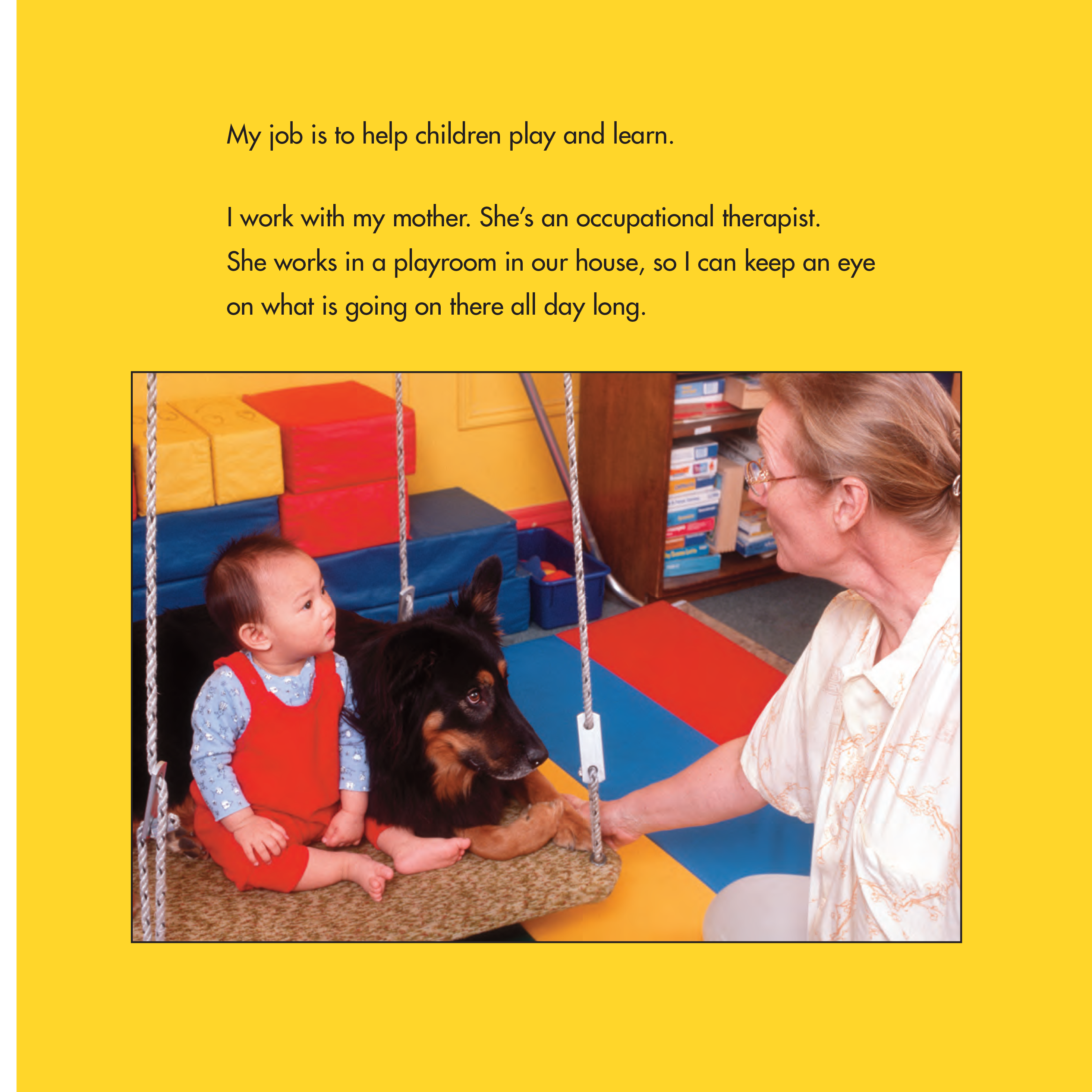 celebrate-picture-books-picture-book-review-toby-and-Tutter-therapy-dogs-swing