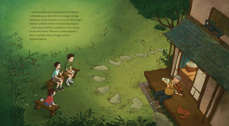 celebrate-picture-books-picture-book-review-hana-hashimoto-sixth-violin-listening-to-grandfather