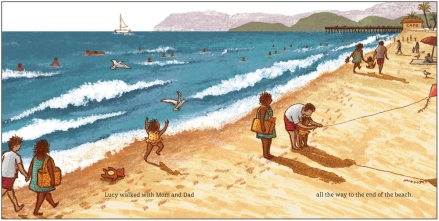 celebrate-picture-books-picture-book-review-twenty-yawns-lucy-running-on-beach