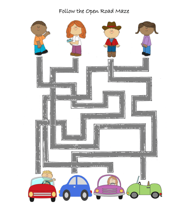 celebrate -picture -books-picture-book-review-follow-the-open-road-maze