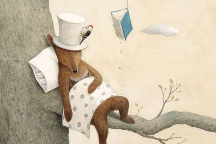celebrate-picture-books-picture-book-review-mr-browns-fantastic-hat-sleeping-on-branch