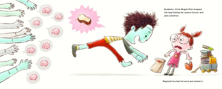 celebrate-picture-books-picture-book-review-peanut-butter-and-brains-reginald-grabs-bag