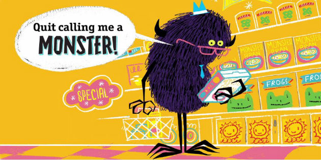 celebrate-picture-books-picture-book-review-quit-calling-me-a-monster-floyd-shopping
