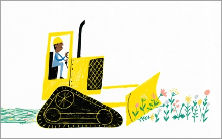 celebrate-picture-books-picture-book-review-the-smallest-girl-in-the-smallest-grade-bulldozer