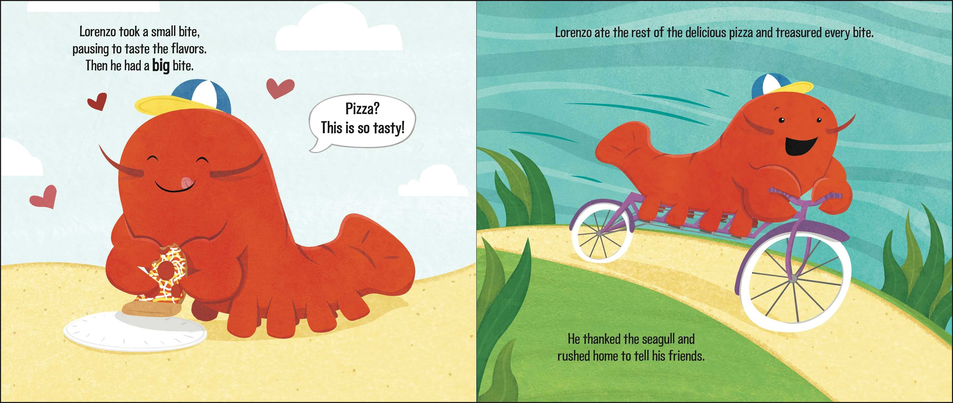 celebrate-picture-books-picture-book-review-lorenzo-the-pizza-loving-lobster-bicycle