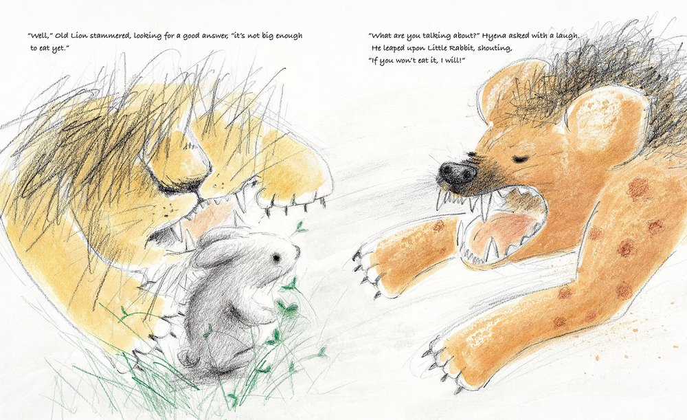 celebrate-picture-books-picture-book-review-old-lion-and-little-rabbit-hyenna
