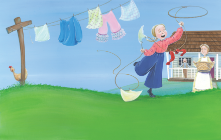 celebrate-picture-books-picture-book-review-the-original-cowgirl-clothesline