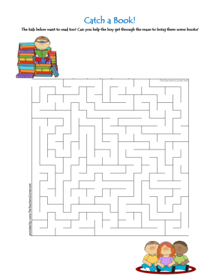 celebrate-picture-books-picture-book-review-catch-a-book-maze