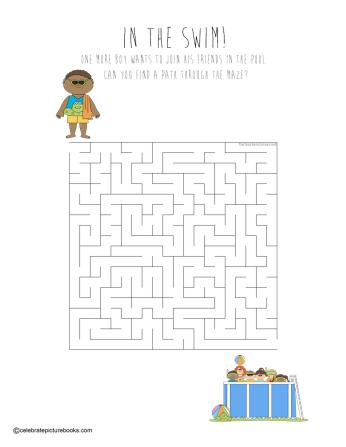 celebrate-picture-books-picture-book-review-in-the-swim-maze
