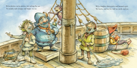 celebrate-picture-books-picture-book-review-ned-the-knitting-pirate-swabbing-the-deck