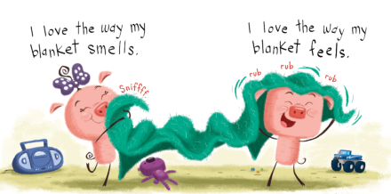celebrate-picture-books-picture-book-review-pigs-and-a-blanket-playing-with-blanket