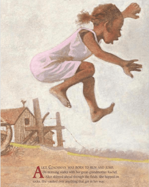 celebrate-picture-books-picture-book-review-Queen-of-the-Track-young-alice-coachman
