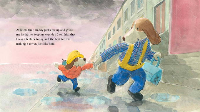 celebrate-picture-books-picture-book-review-the-best-part-of-daddy's-day-running-home