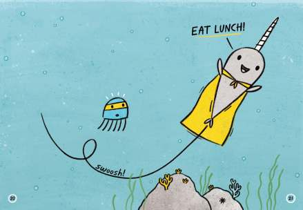 celebrate-picture-books-picture-book-review-super-narwhal-and-jelly-jolt-eat-lunch