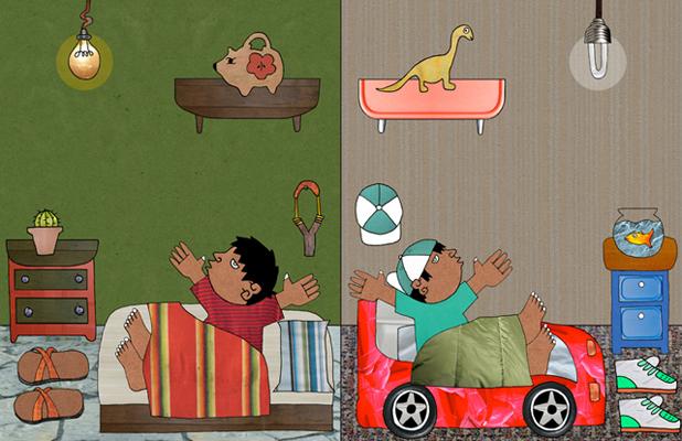 celebrate-picture-books-picture-book-review-dear-primo-a-letter-to-my-cousin-same-idea