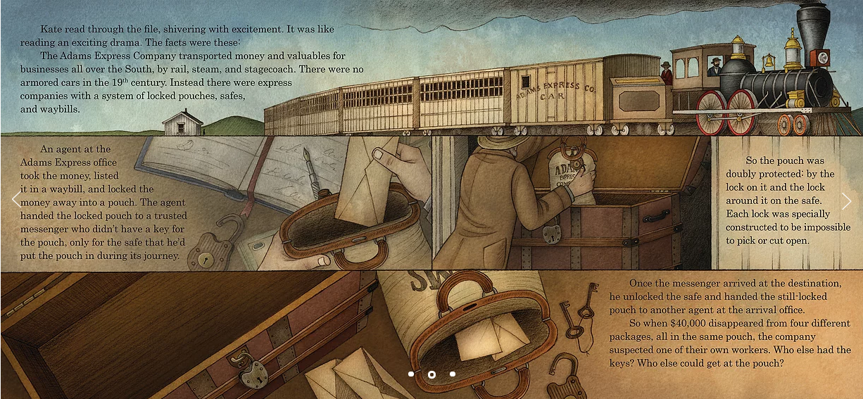 celebrate-picture-books-picture-book-review-Kate-Warne-pinkerton-detective-train