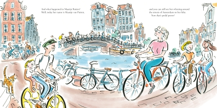 celebrate-picture-books-picture-book-review-pedal-power-Amsterdam-today
