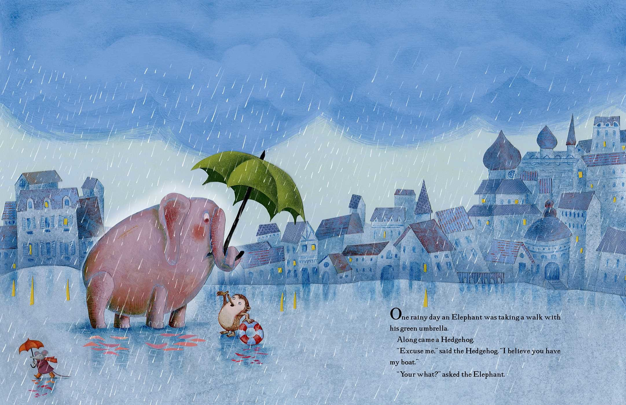 celebrate-picture-books-picture-book-review-the-green-umbrella-hedgehog