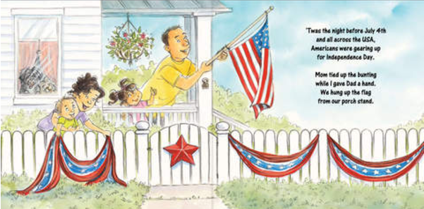 celebrate-picture-books-picture-book-review-the-night-before-the-fourth-of-July-house