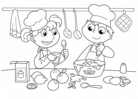 Celebrate Pictureb Books Picture Book Review Kids Baking Lets Bake Together Coloring Page