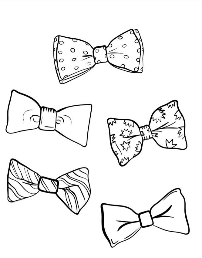 August 28 national bow tie day for Necktie coloring page