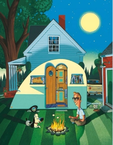 celebrate-picture-books-picture-book-review-a-camping-spree-with-mr-magee-camping-at-home