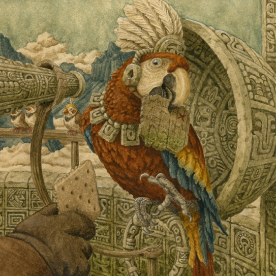 celebrate-picture-books-picture-book-review-homer-henry-hudson's-curio-museum-parrot