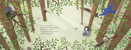 celebrate-picture-books-picture-book-review-maya-lin-artist-architect-of-light-and-lines-in-forest