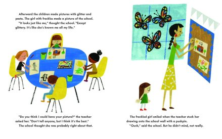 celebrate-picture-books-picture-book-review-school's-first-day-of-school-girl's-picture