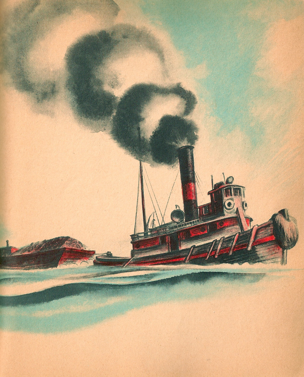 celebrate-picture-books-picture-book-review-the-little-red-lighthouse-and-the-great-gray-bridge-tugboat