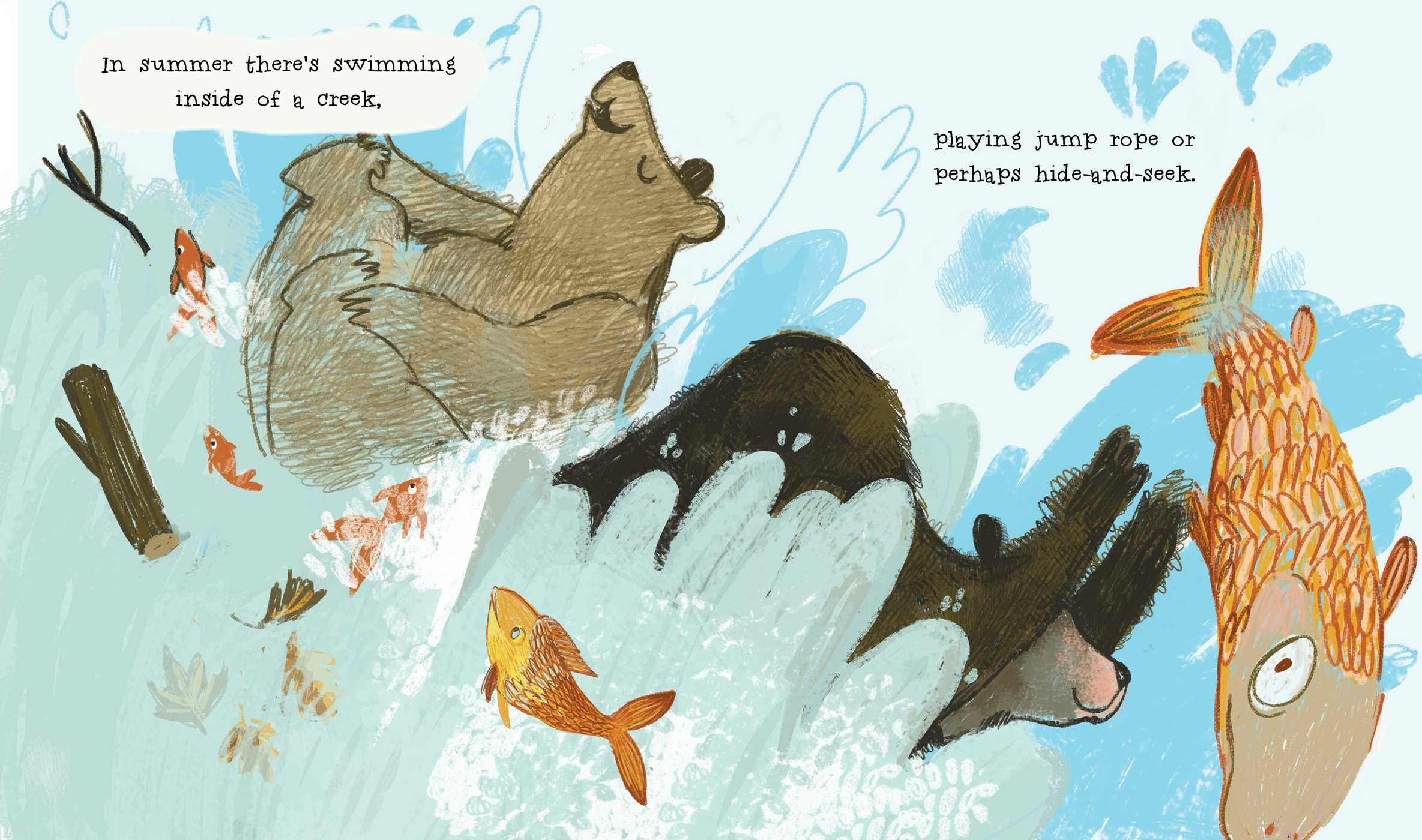 celebrate-picture-books-picture-book-review-the-curious-cares-of-bears-swimming