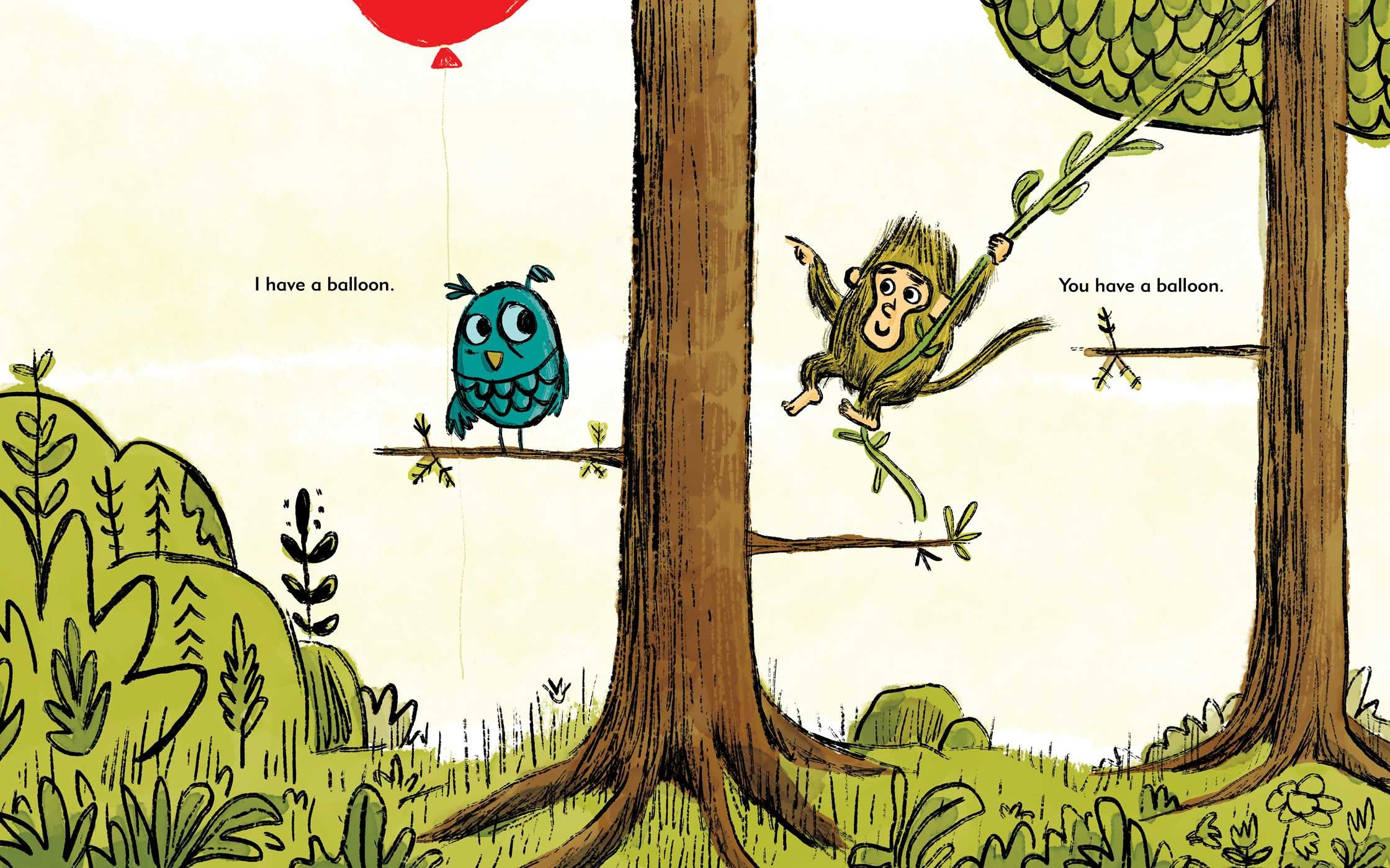 celebrate-picture-books-picture-book-review-I-have-a-balloon-monkey-meets-owl