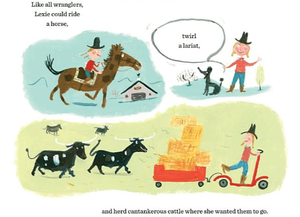 celebrate-picture-books-picture-book-review-lexie-the-word-wrangler-herd-cattle