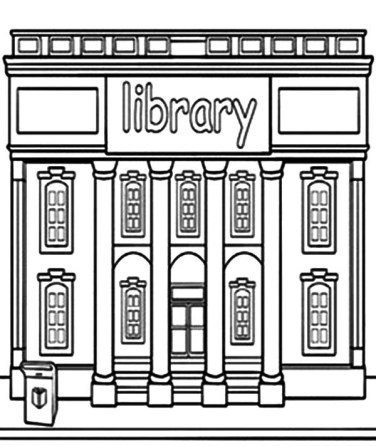 celebrate-picture-books-picture-book-review-Library-Building-Coloring-Pages