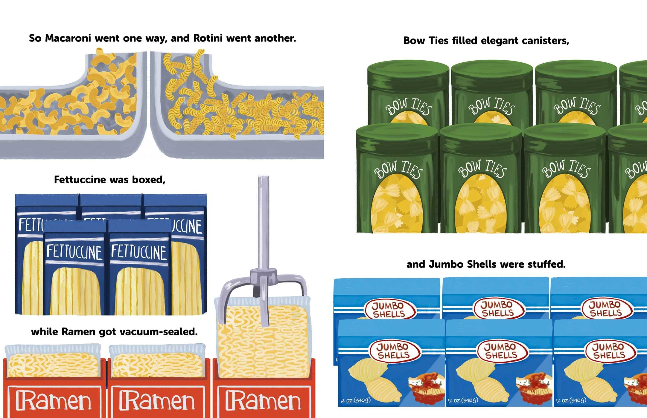 celebrate-picture-books-picture-book-review-the-great-pasta-escape-different-types-of-pasta